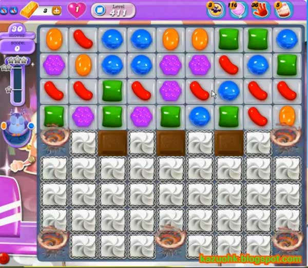candy crush dreamworld level 411