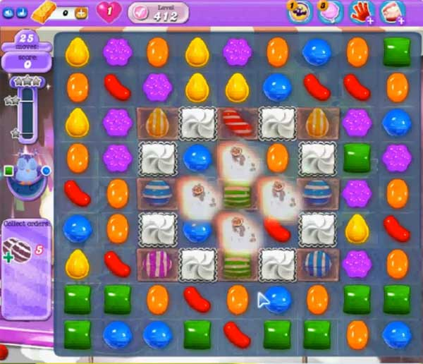 candy crush dreamworld level 412