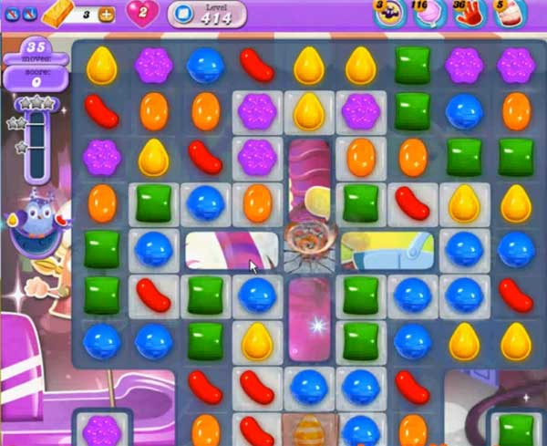 candy crush dreamworld level 414
