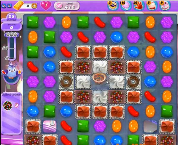 candy crush dreamworld level 415