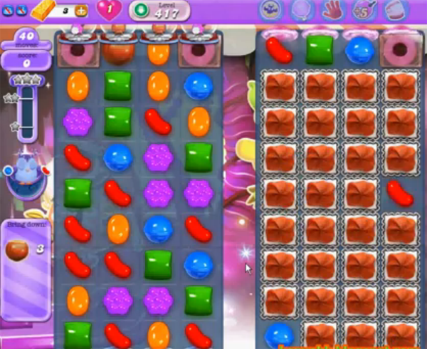 candy crush dreamworld level 417