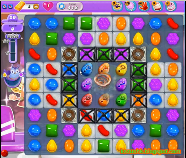 candy crush dreamworld level 418