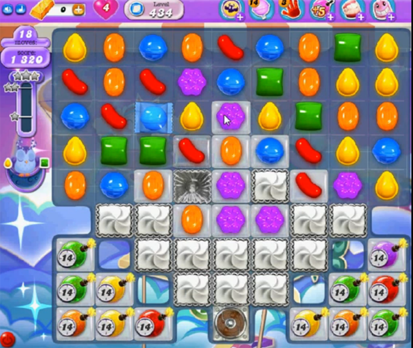 candy crush dreamworld level 434