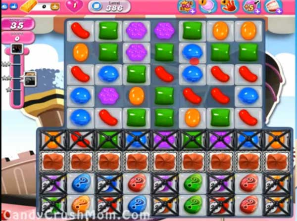 candy crush level 386