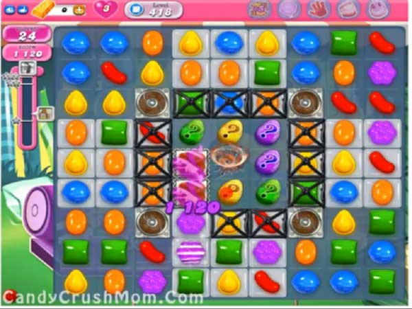 candy crush level 418