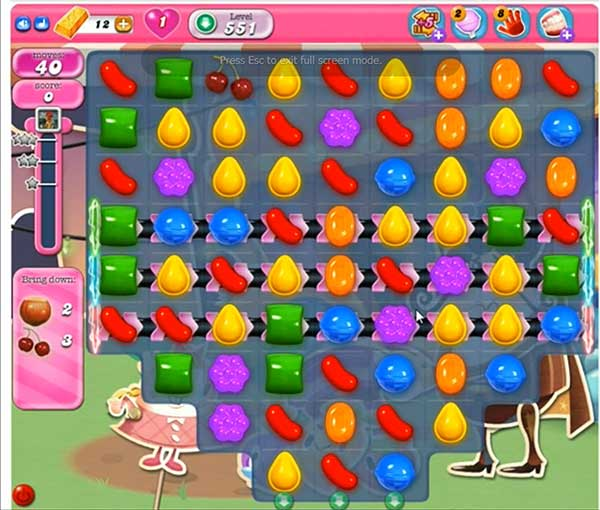 Candy Crush Level 551