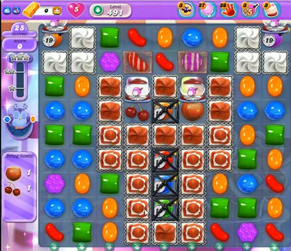 Candy Crush Dreamworld Level 491