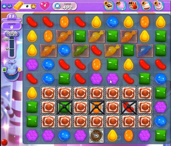 Candy Crush Dreamworld Level 492