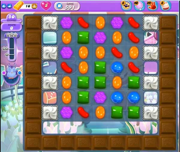 candy crush dreamworld level 591