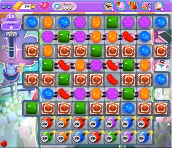 candy crush dreamworld level 595