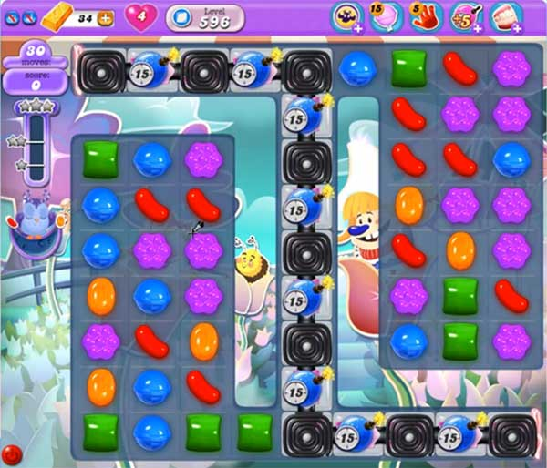 candy crush dreamworld level 596