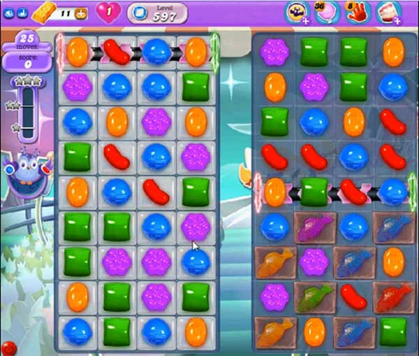 candy crush dreamworld level 597