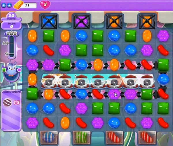candy crush dreamworld level 599