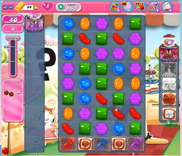 candy crush level 863