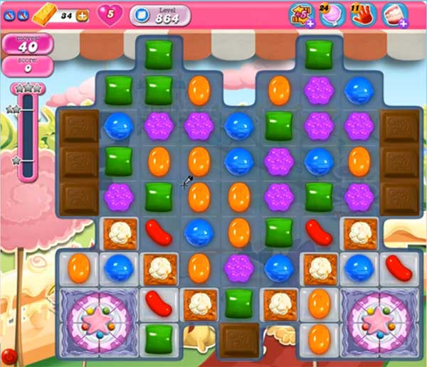 candy crush level 864