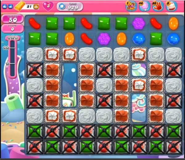 candy crush level 929