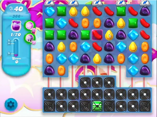 candy soda crush level 366