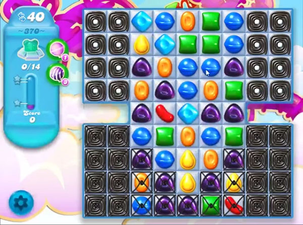 candy soda crush level 370