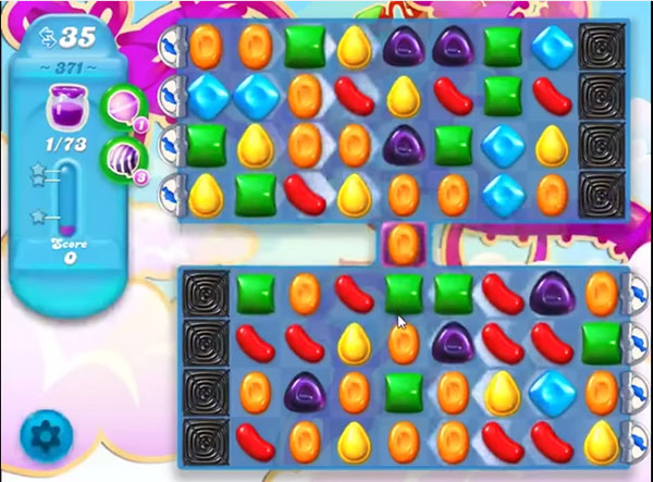 candy soda crush level 371