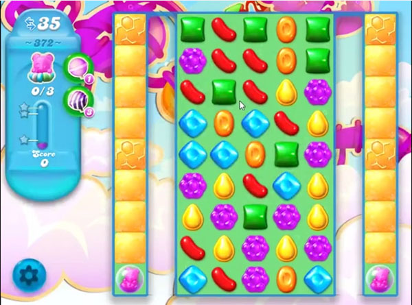candy soda crush level 372
