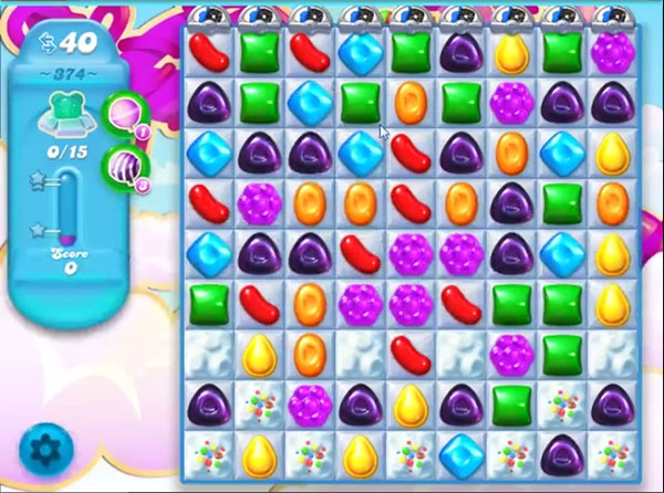 candy soda crush level 374