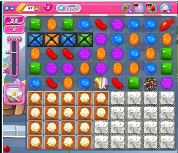 candy crush level 1157