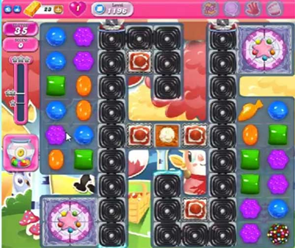 candy crush level 1196