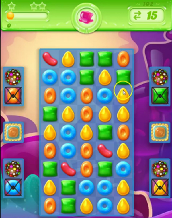 Tips and walkthrough candy crush jelly level 102 for Candy crush fish