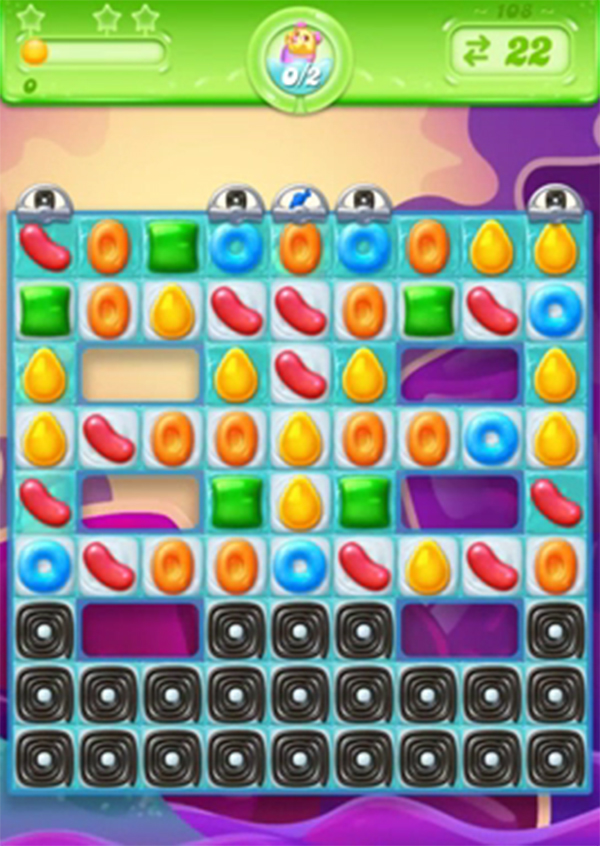 candy crush jelly level 108