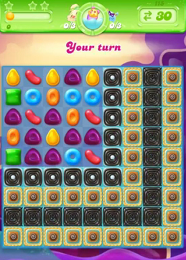 candy crush jelly level 115