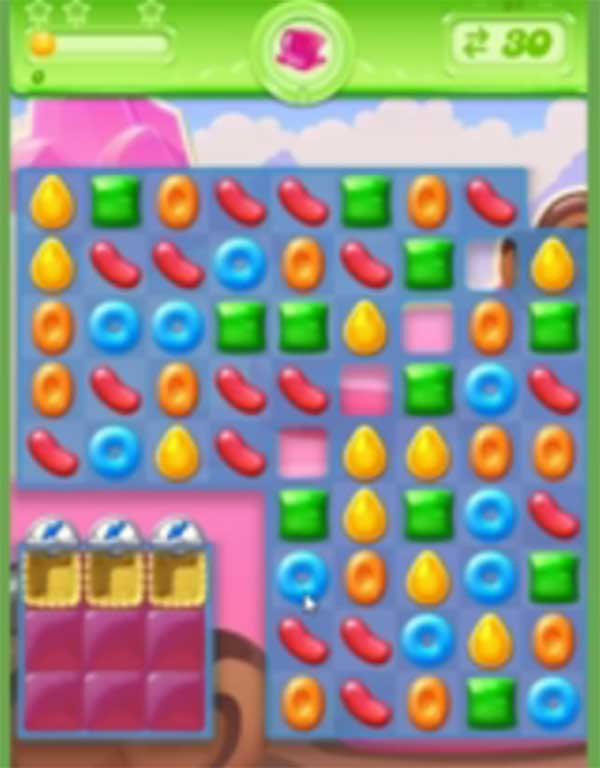 tips and walkthrough candy crush jelly level 61