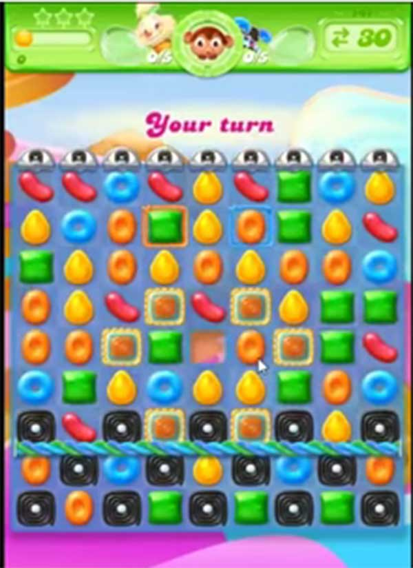 candy crush jelly level 142