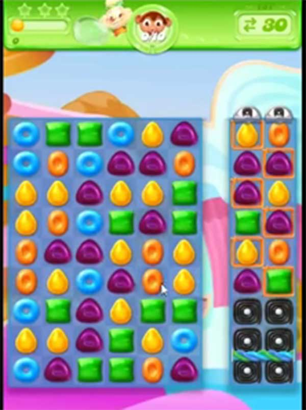 candy crush jelly level 158