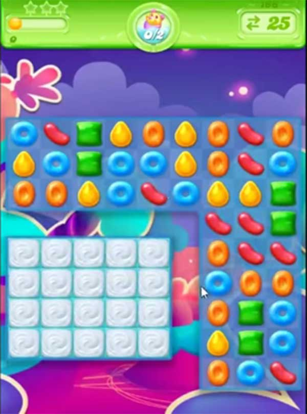 candy crush jelly level 166