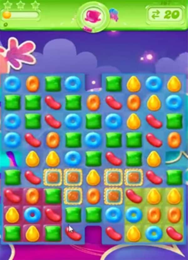 candy crush jelly level 167