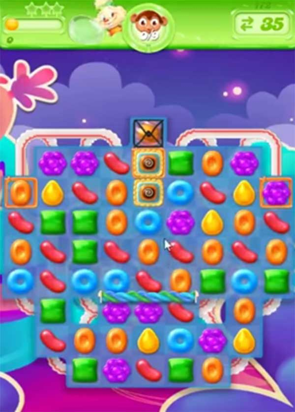 candy crush jelly level 172