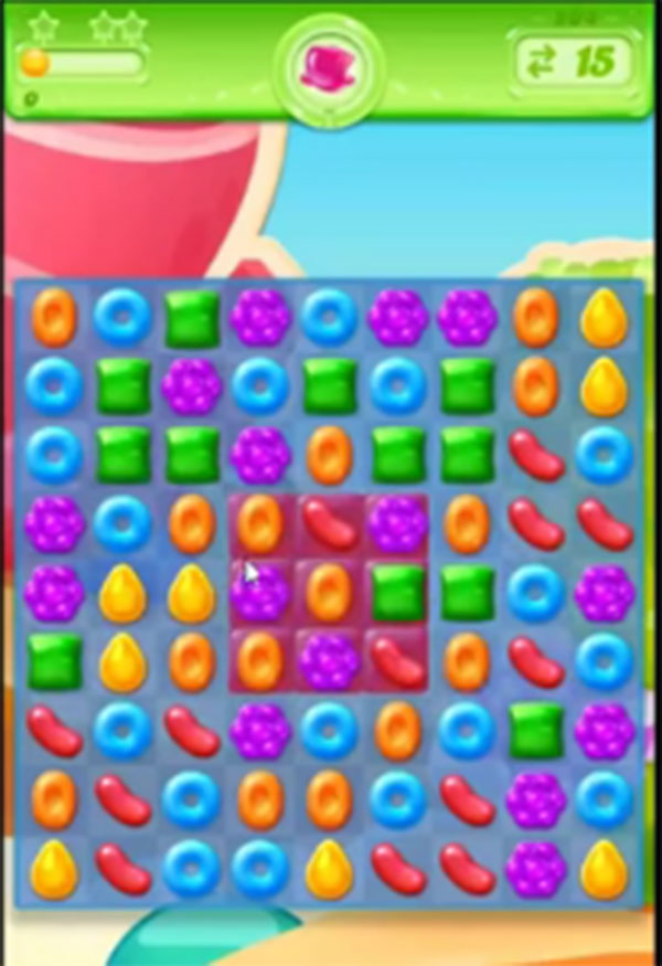 candy crush jelly level 204
