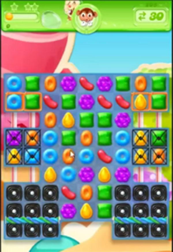 candy crush jelly level 208