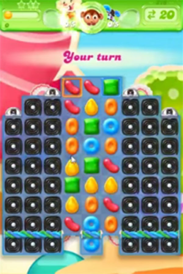 candy crush jelly level 216