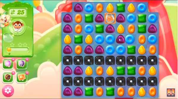 candy crush jelly level 261