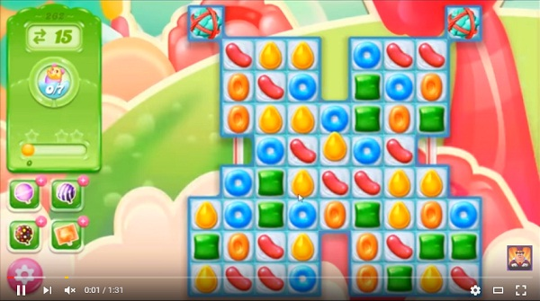 candy crush jelly level 262