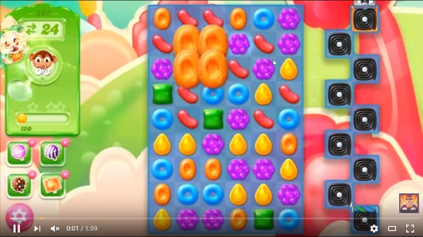 candy crush jelly level 267