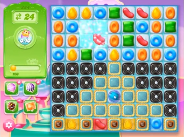 candy crush jelly level 284