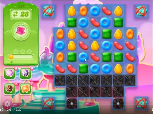 candy crush jelly level 291