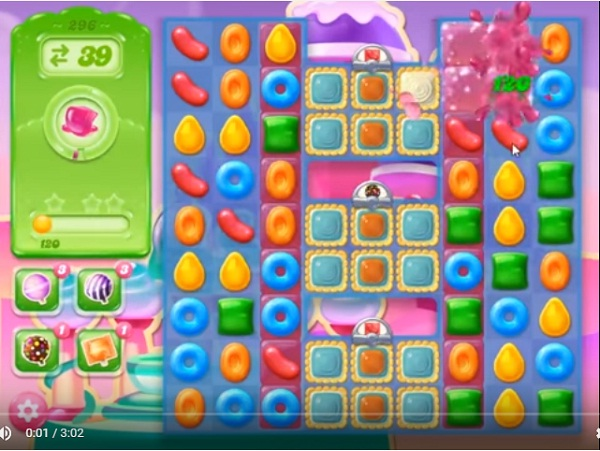 candy crush jelly level 296