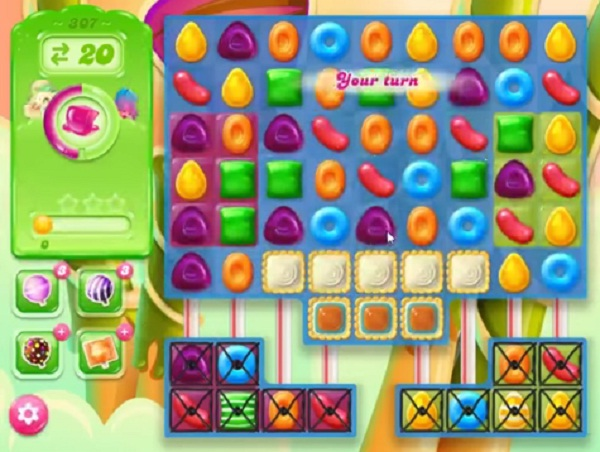 candy crush jelly level 307