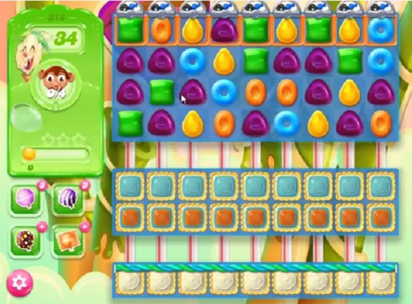 candy crush jelly level 318