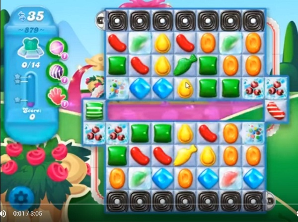 how to play level 879 in candy crush saga