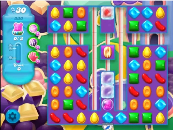 candy crush soda level 886
