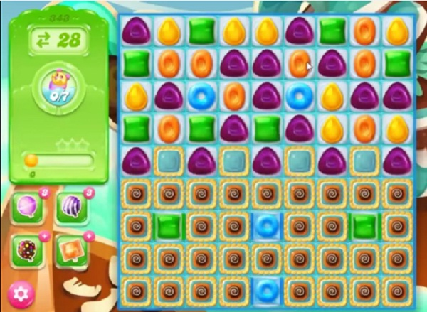 candy crush jelly level 343